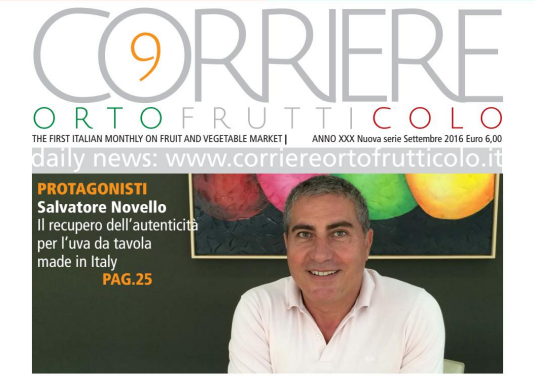 Salvatore Novello is the protagonist of the month of September on the Corriere Ortofrutticolo